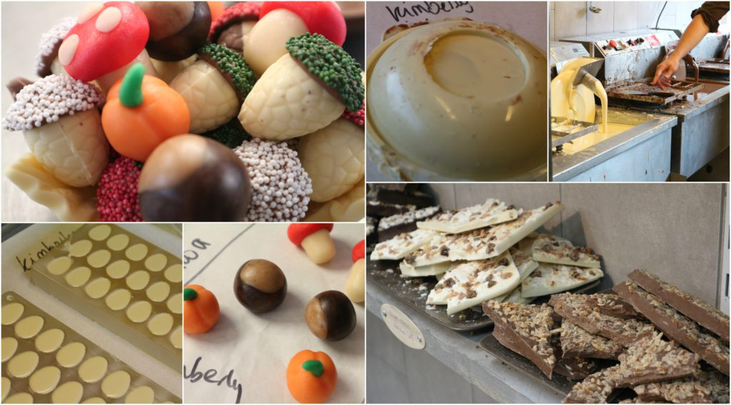 Collage chocoladeworkshop bloggerstour