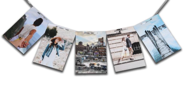 Fotoslinger vierkant