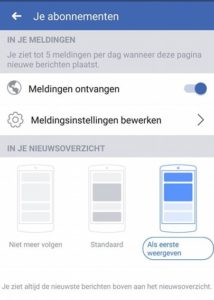 Facebook Print Screen Als eerste weergeven