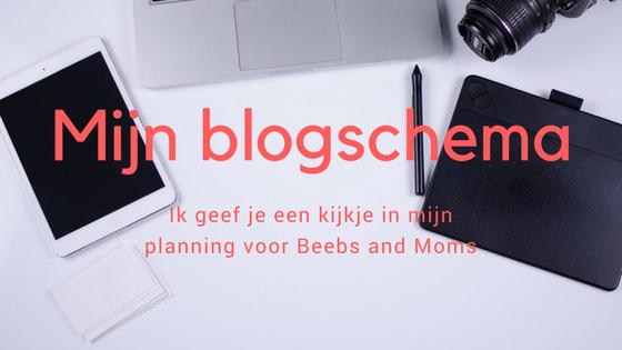 Mijn blogschema
