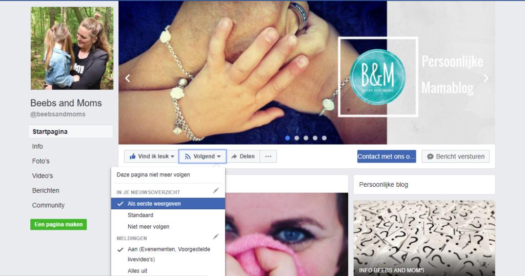 Facebook Print Screen : als eerste weergeven