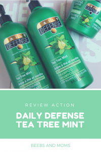 Daily Defense Tea Tree Mint Action Review Pinterest