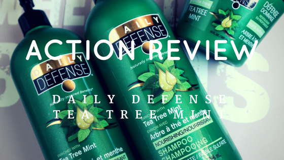 Daily Defense tea tree mint action review