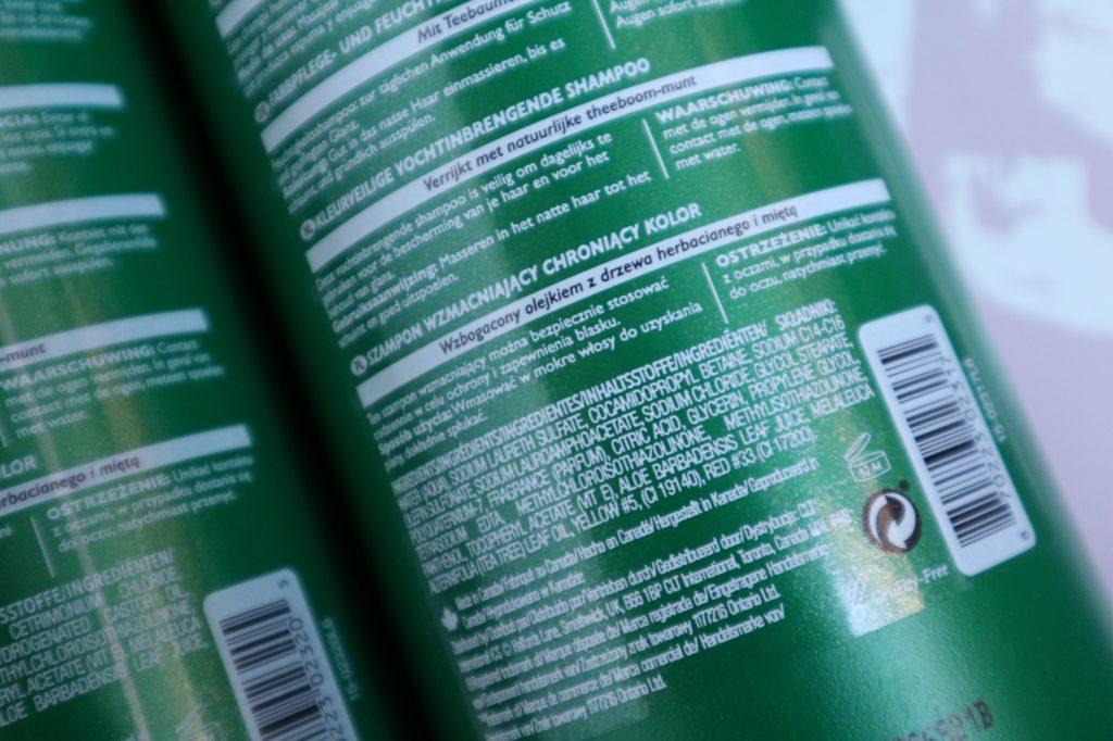 Daily Defense Tea Tree Mint Review Action ingrediënten shampoo