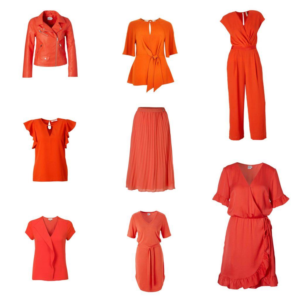 oranje kleding dames