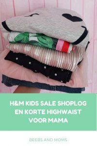 H&M Kids Sale Shoplog en kortje jeans highwaist voor mama