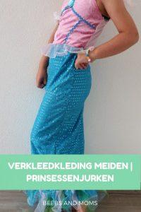 Verkleedkleding voor meiden prinsessenjurken zeemeermin en Belle
