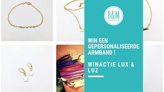Winactie Lux & Luz win een gepersonaliseerde goldfilled armband met satijnkoord