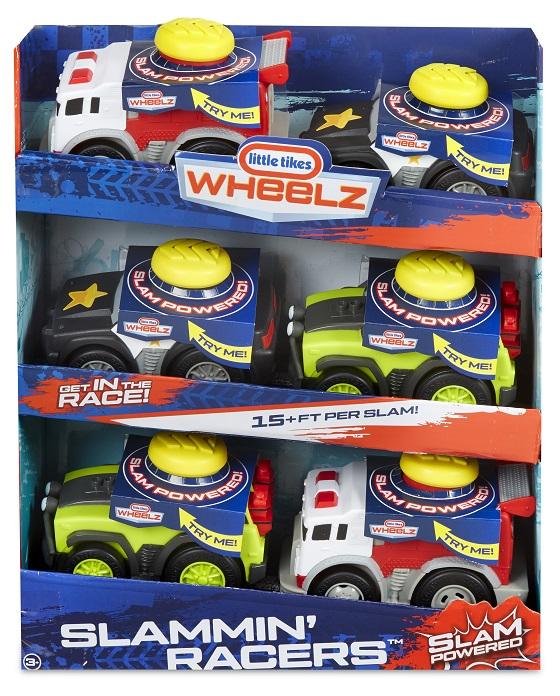 647949 Slammin Racers Asst in PDQ Tray FW F