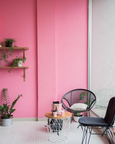 Roze muur in je interieur