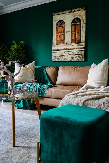 hoe kies je kleur in je interieur - donkergroen en velvet
