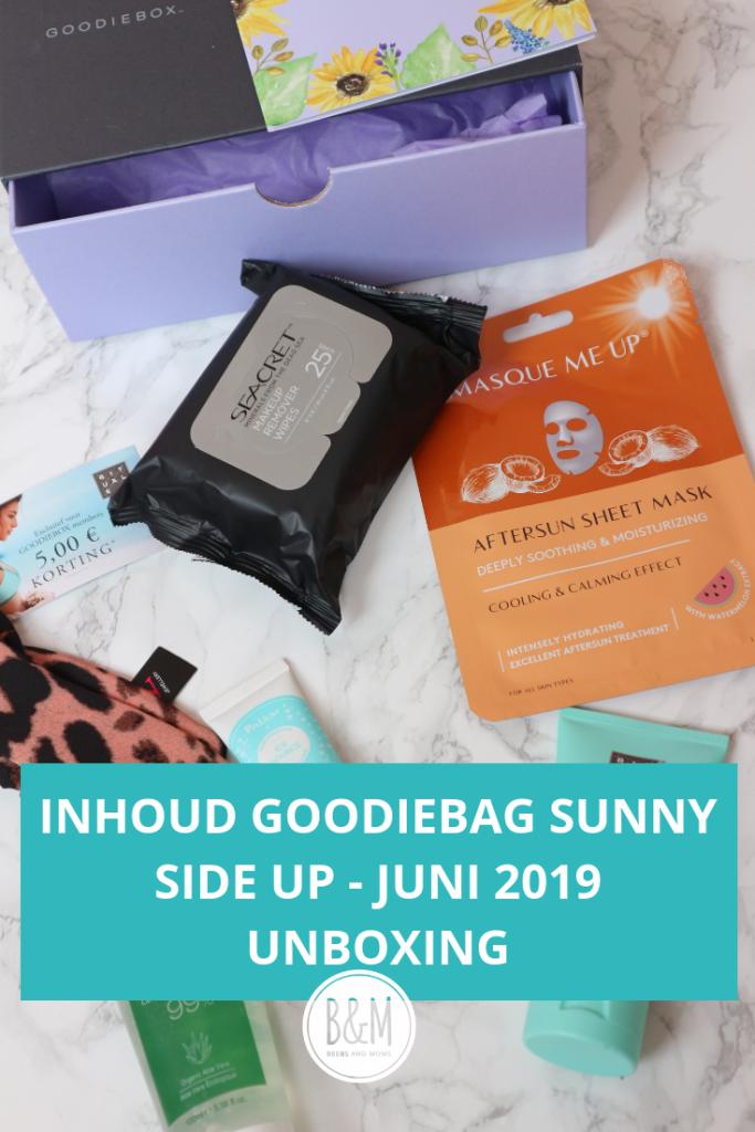 Inhoud Goodiebox juni 2019 Sunny Side Up - Unboxing