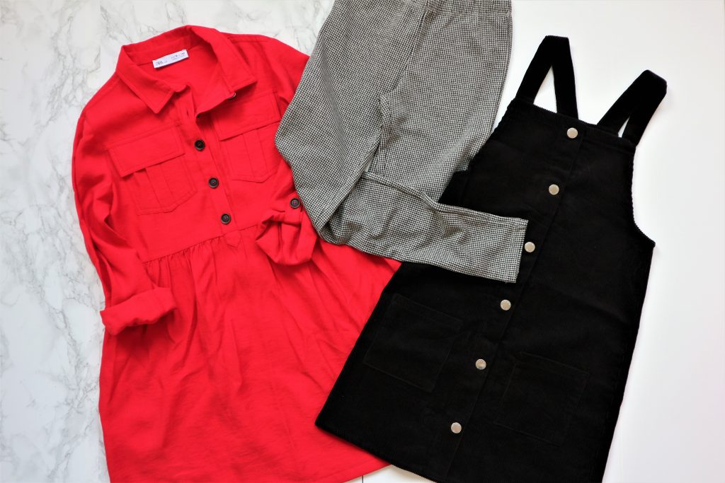 Ribcort overgooier - rode jurk - ruitjeslegging Shoplog meisjes
