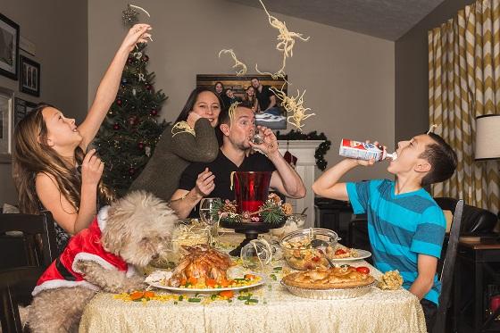 Ontspannen en gemakkelijk kerstdiner met het gezin