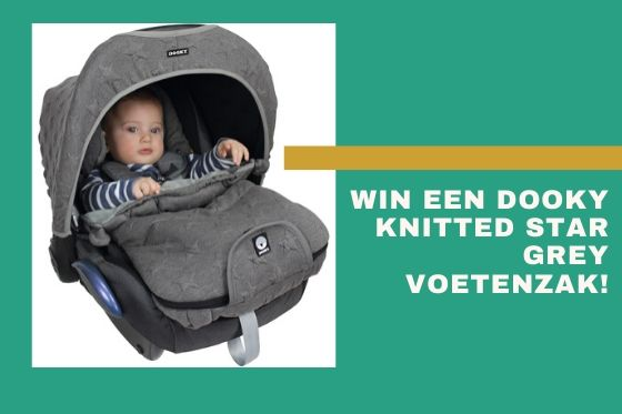 Win een Dooky Knitted Star Grey voetenzak -