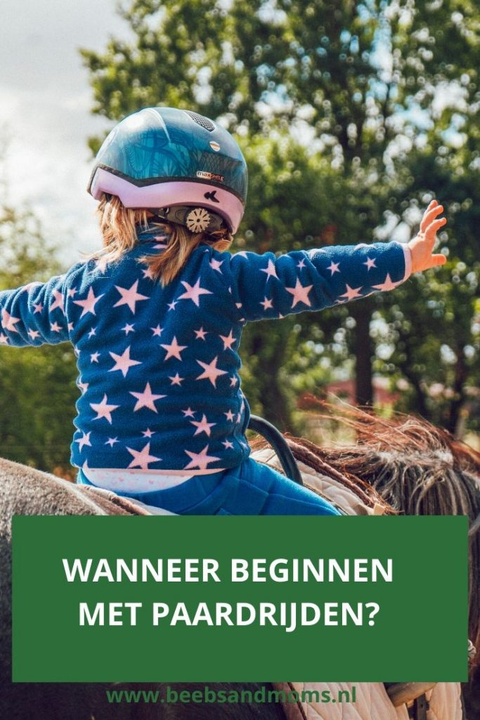 Wanneer beginnen met paardrijden en wat nodig