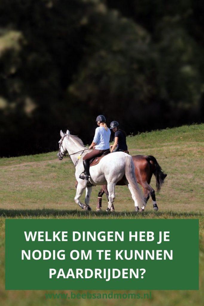 Wat heb je nodig om te kunnen paardrijden