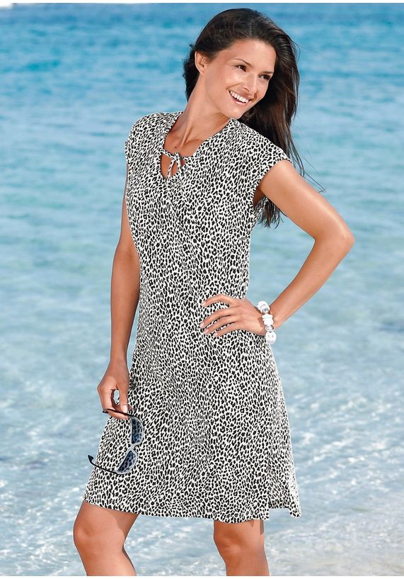 strandjurk - jurk zomer met panterprint