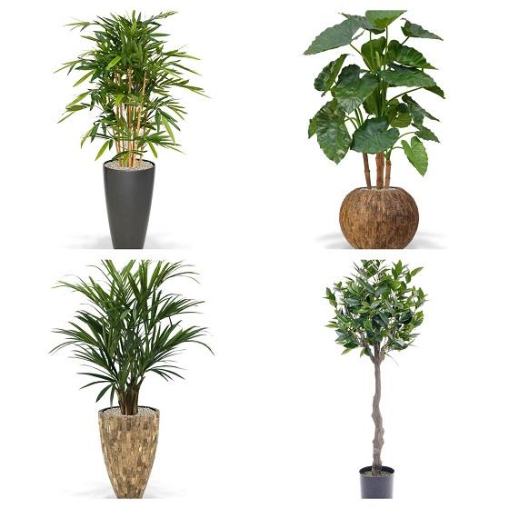 kunstplanten urban jungle in de badkamer
