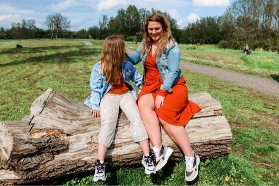 Sneakers voor moeder en dochter matching zomer